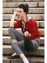 HUMAN WOMAN ◆コットンキュプラニット ヒューマン ウーマン ビジネス/フォーマル セットアップスーツ レッド ホワイト カーキ【送料無料】