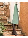 【SALE/50%OFF】J.PRESS サキソニーストレッチスカート ジェイプレス スカート スカートその他 グリーン グレー ブラウン【送料無料】