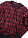 【SALE/50%OFF】MEN'S BIGI ダブルジャカードチェックカットソー メンズ ビギ カットソー Tシャツ レッド グリーン【送料無料】