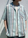 【SALE/50%OFF】BAYFLOW (M)ガラオープンカラーシャツSS ベイフロー シャツ/ブラウス 半袖シャツ グリーン ベージュ ホワイト
