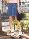 【SALE/19%OFF】dazzlin [sc]フリンジヘムデニムスカート ダズリン スカート【RBA_S】【RBA_E】