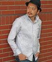 【SALE/50%OFF】MEN'S BIGI グレンチェック×リーフジャガード シャツ メンズ ビギ シャツ/ブラウス【RBA_S】【RBA_E】【送料無料】