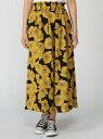 レトロ花柄フレアロングスカート コカ スカート