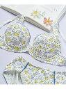 【SALE/50%OFF】une nana cool Comical flower 3/4カップブラジャー ウンナナクール インナー/ナイトウェア ブラジャー ホワイト ピンク