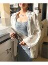 ANDJ ビッグポケットオーバーサイズシャツ アンドジェイ シャツ/ブラウス 長袖シャツ ホワイト【送料無料】