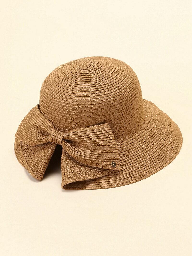 (W)洗えるリボンスリットハット カラップ 帽子/ヘア小物