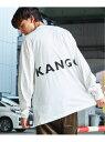 KANGOL KANGOL×Rocky Monroe別注 裾スピンドル ロンT ロッキーモンロー カットソー カットソーその他 ホワイト ブラック ベージュ【送料無料】