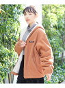 MILKFED. CORDUROY BOA ZIP HD JKT ミルクフェド コート/ジャケット ブルゾン ブラウン グリーン ピンク【送料無料】