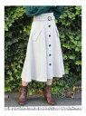 【SALE/40%OFF】dazzlin フラップハイウエストミデイスカート ダズリン スカート フレアスカート グレー ブラック ブラウン【送料無料】
