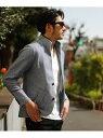 【SALE/50%OFF】MEN'S BIGI スタンドカラー カットジャケット/メランジラッセル メンズ ビギ コート/ジャケット【RBA_S】【RBA_E】【送料無料】
