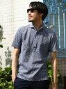 【SALE/50%OFF】ESSENTIAL GARMENT MEN'S BIGI カノコ素材ポロシャツ/フラワープリント (日本製) メンズ ビギ カットソー【RBA_S】【RBA_E】【送料無料】