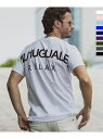 1PIU1UGUALE3 RELAX 1PIU1UGUALE3 RELAX/バックロゴプリントTシャツ シフォン カットソー