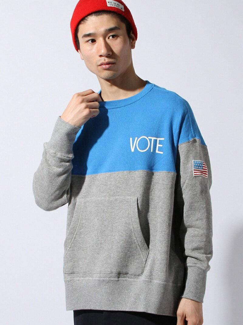 【50%OFF】【送料無料】VOTE MAKE NEW CLOTHES 2 TONE BIG SWEAT ヴォート メイク ニュー クローズ カットソー【RBA_S】【RBA_E】