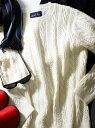 【SALE/50%OFF】RATTLE TRAP ケーブル編みクルーネックニット メンズ ビギ ニット 長袖ニット ホワイト ベージュ グレー レッド ブラック【RBA_E】