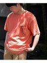 【SALE/30%OFF】DOORS 【別注】Champion×DOORS ポケットTシャツ アーバンリサーチドアーズ カットソー Tシャツ ピンク ホワイト グレー ブラック【RBA_E】【送料無料】