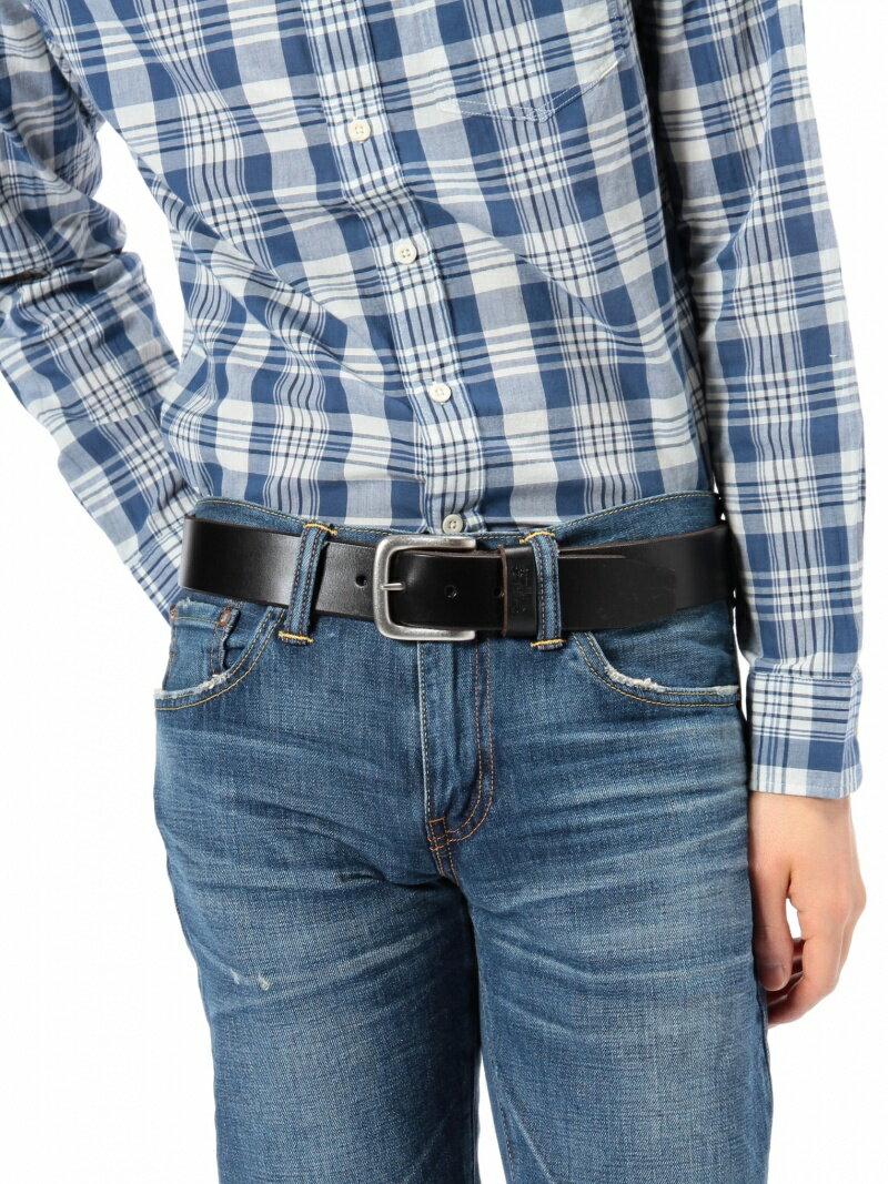 Levi's メンズ ファッショングッズ リーバイス Levi's レザーベルト-ブラック/メンズ リーバイス ファッショングッズ【RBA_S】