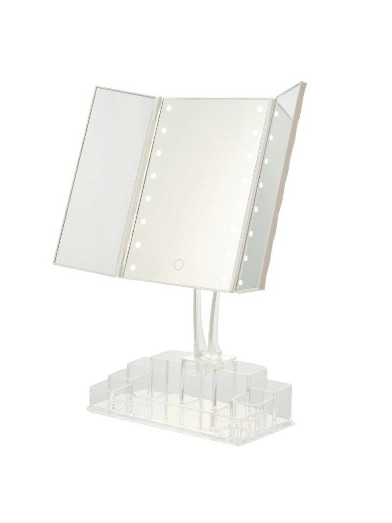 Francfranc ラミラ LED三面ミラー オーガナイザー付き