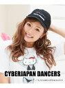 ショッピングキティ SANRIO Sanrio/CYBERJAPAN DANCERS(サイバージャパンダンサーズ) 【HELLO KITTY】キャップ シフォン 帽子/ヘア小物 キャップ ブラック