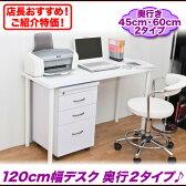会議用テーブル ミーティングテーブル 作業台 テーブル,パソコンデスク PCデスク 120cm幅 ネイル デスク シンプル,白 黒 ホワイト ブラック 幅120cm 奥行45cm 奥行60cm