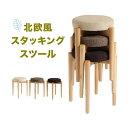 丸椅子 木製 スタッキングチェアー 完成品 送料込み 腰掛け...