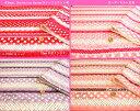 キルティングプリント生地≪Sweet Decoration Border≫レースとドット柄大きさの違うドット(水玉)やレースを可愛く飾り付けしたボーダー柄のキュートなキルト生地です。☆入園入学にもおすすめ☆
