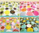 W巾オックス生地北欧テイスト【NEシリーズ】 Happy!FlowerPatternとっても大胆な色づかいとプリント柄が特徴的!北欧ファブリックテイストの生地た...