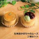 北海道かぼちゃムース2種セット スイーツ 冷凍スイーツ ムース 抹茶 あずき りんご ミニムース