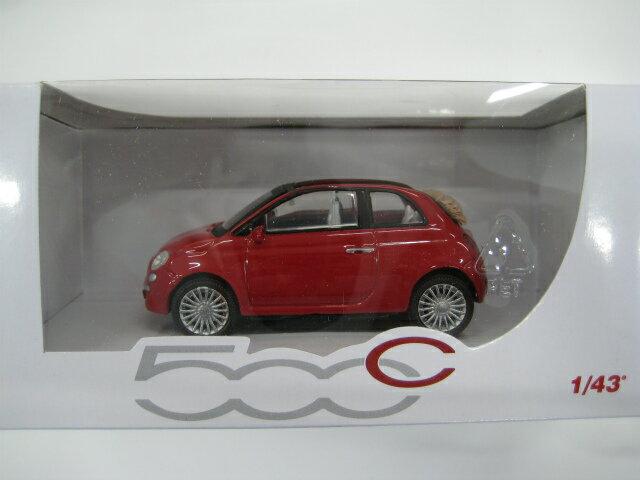 フィアット500C モデルカー(レッド) 1/43