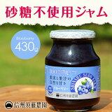 【砂糖不使用】低糖度ジャム 信州須藤農園 100%フルーツ ブルーベリージャム430g
