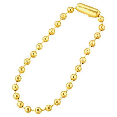 金色 10cmボールチェーン キーホルダー バッグ 鞄 コレクション【メール便・同梱OK】