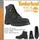 ティンバーランド Timberland キッズ 6インチ プレミアム ウォータープルーフ ブーツ JUNIOR 6INCH WATERPROOF BOOTS ヌバック レディース