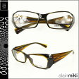 アランミクリ alain mikli メガネ 眼鏡 セルフレーム AL0635-21 ブラウン イエロー メンズ レディース あす楽 【20】