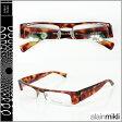 アランミクリ alain mikli メガネ 眼鏡 AL0709-0051 ブラウン イエロー スクウェア セルフレーム サングラス BROWN YELLOW GLASSES メンズ レディース あす楽 【20】