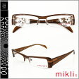 ミクリ mikli アランミクリ メガネ 眼鏡 ブラウン M0807-col04 セルフレーム サングラス alain mikli メンズ レディース