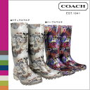 ● [Father's Day] tomorrow comfortable 2 coach COACH rain boots [A7481 Q497] color pixie pop C グレイザーレディース boots regular outlet free shipping
