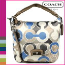 Free shipping coach COACH shoulder bag 2Way [F16494] blue multicolored Kristen outline op art Ho baud lady's regular outlet [I will take my ease tomorrow]