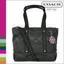 Free shipping coach COACH F18844 2way tote bag [black] Daisy nylon signature regular outlet [6/6 additional arrival]