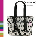 Free shipping coach COACH F18855 2Way tote bag [black X white] Daisy signature regular outlet [6/6 additional arrival]