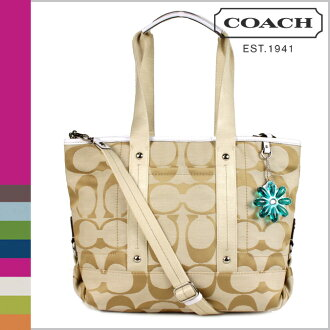 Coach COACH tote bag 2-Way light khaki / white Daisy