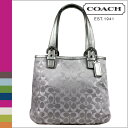 ● [Father's Day] tomorrow comfortable coach COACH tote bag [F18910] light gray X silver Soho satin signature lady's regular outlet free shipping