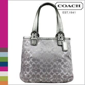 Coach COACH tote bag light grey / silver ソーホーサテンシグネチャー ladies