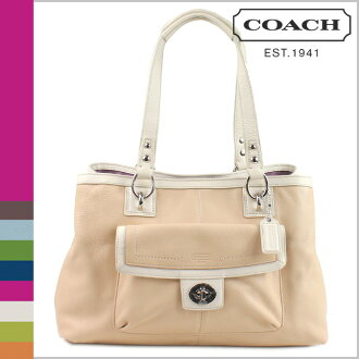 Coach COACH tote bag Patty × white b Penelope leather carryall