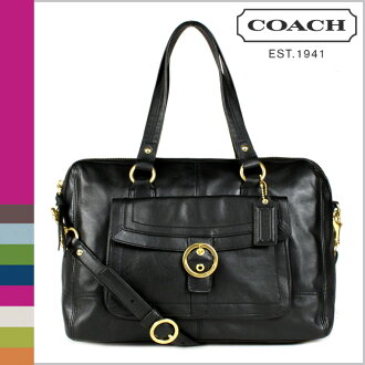 Coach COACH tote bag 2-Way black Penelope leather buckle satchel ladies