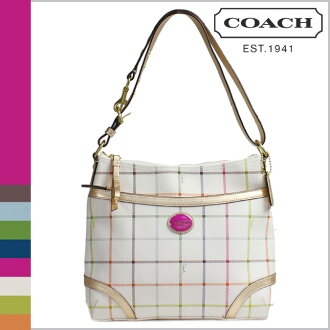 Coach COACH shoulder bag multicolor heritage Tattersall Duffle women's