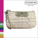 Coach COACH F47145 porch [multicolored] signature stripe tartan large list let regular outlet / free shipping / tomorrow comfort [Father's Day]
