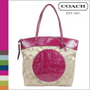 Coach COACH tote bag [F18335] khaki X berry laura signature Thoth lady's regular outlet free shipping tomorrow comfort ●