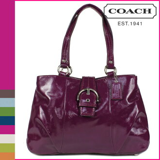 Coach COACH tote bag plum SOHO patent carryall ladies