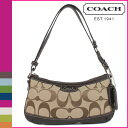 Coach COACH shoulder bag [F19731] khaki X mahogany signature E W duffel lady's regular outlet free shipping tomorrow comfort [Father's Day]