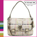 ● [Father's Day] tomorrow comfortable coach COACH poppy POPPY shoulder bag 2way [F19869] multicolored tattersall check pocket hippie lady's regular outlet free shipping