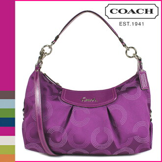 Coach COACH shoulder bag 2-way grapefruit Ashley ドッテド op art convertible Hobo ladies
